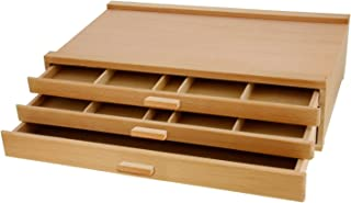 US Art Supply 3-Drawer Artist Wood Pastel, Pen, Marker Storage Box