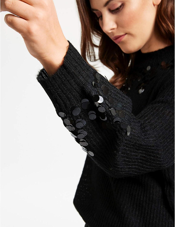 Samoon Damen Pullover Schwarz (Black 1100)
