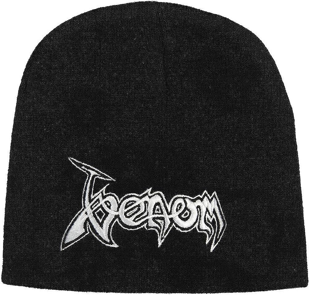 Venom Beanie Hat Cap Classic Band Logo Official Black Size One Size