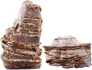Lifegard Aquatics Aquascaping Crema Pagoda Rock Kit – Decorative Aquarium Rocks, Fish Tanks – 25 Gallon Kits