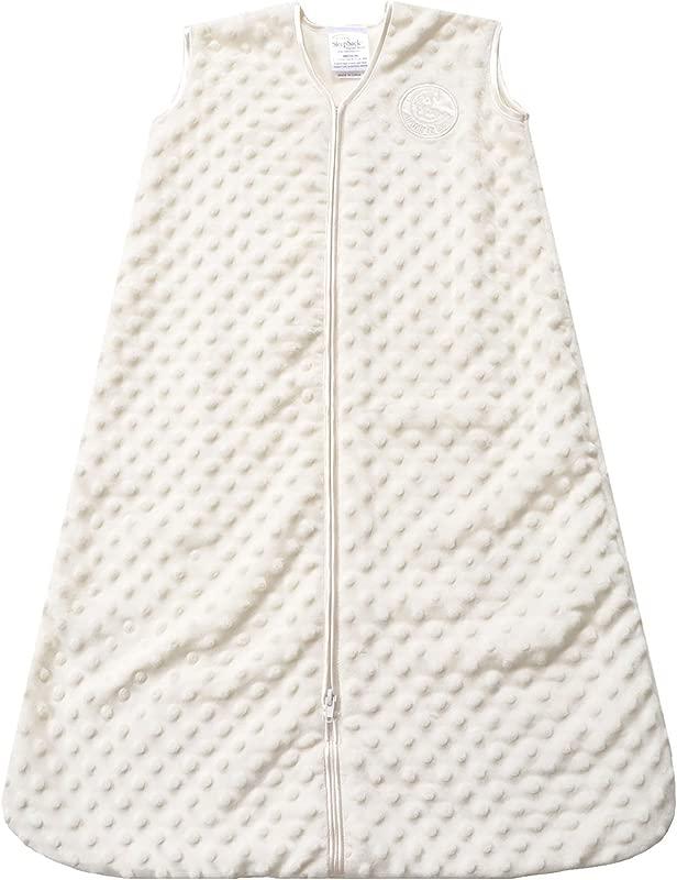HALO Sleepsack Wearable Blanket Velboa Cream Plush Dots Large