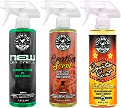 Chemical Guys AIR_301 Best Air Freshener Kit - New Car Scent, Leather Scent & Signature Stripper Scent (3) 16 oz. Bottles