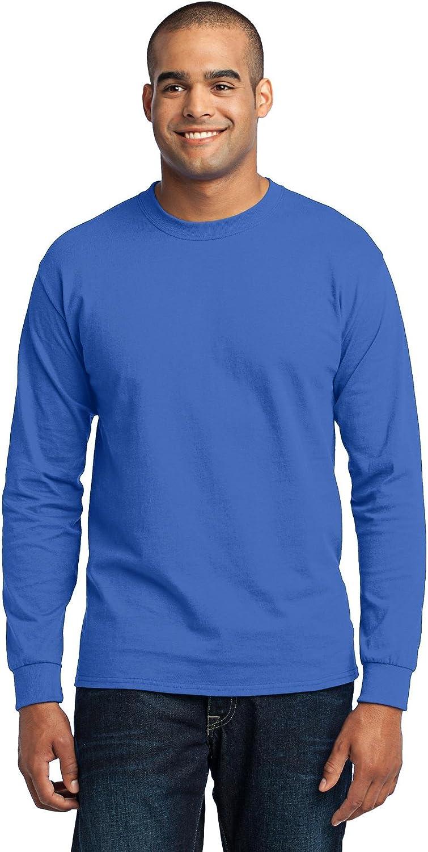Port & Company Men's Tall Long Sleeve 50/50 Cotton/Poly T Shirt 3XLT Royal