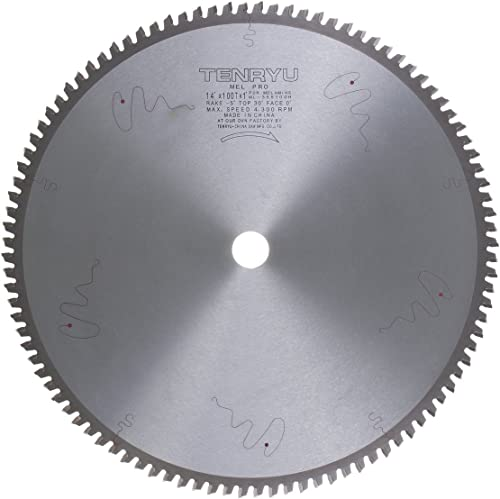 "discount Tenryu ML-355100H 14"" Carbide high quality Tipped Saw Blade ( 100 Tooth HATB Grind - 1"" popular Arbor - 0.126 Kerf) sale"