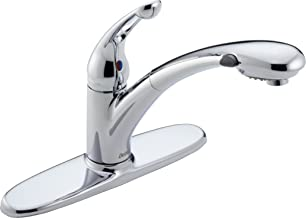 Delta 472-DST Signature Single Handle Pull-Out Kitchen Faucet, Chrome