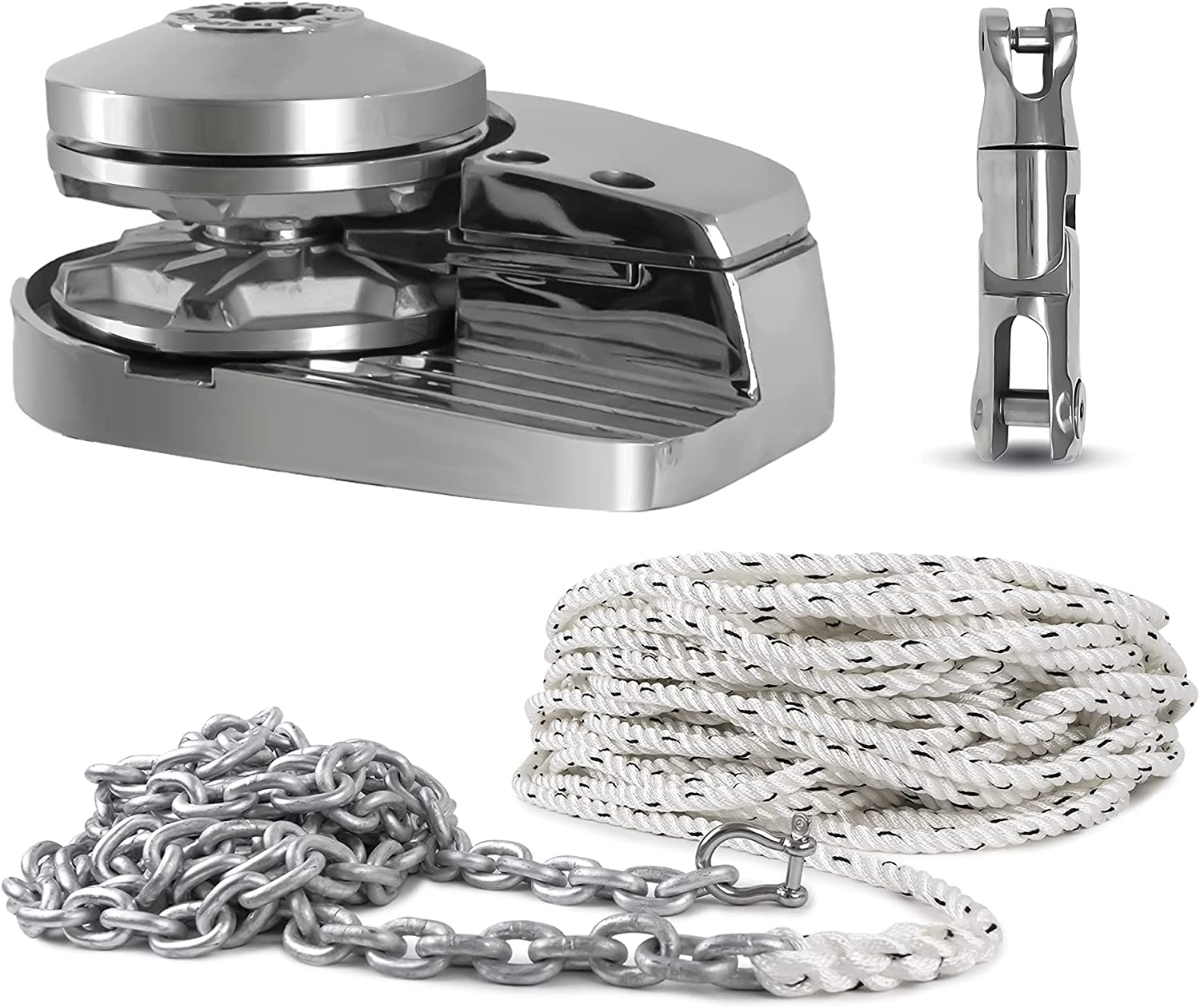Five Oceans Pacific 600 Vertical Under blast sales Windlass 600W Chain excellence Rope w Kit