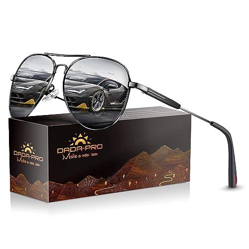 7a1f31b63f9 Mens Sunglasses Polarized Women Sun glasses - Dada-Pro Brand Designer  Mirrored Retro Pilot Shades