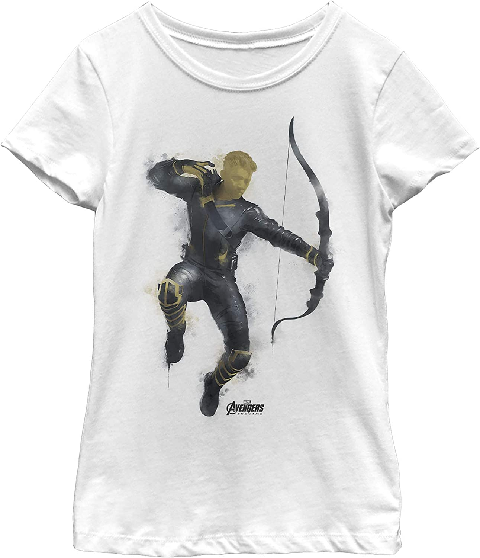 Marvel Girl's Avengers: Endgame T-Shirt Jacksonville Mall Spray Paint Online limited product Hawkeye
