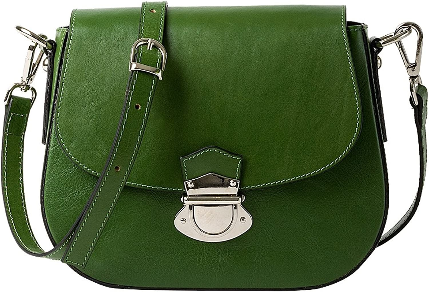 HONEY BAG Italian Leather Cowhide leather women's shoulder bag  GIGLIOLA  GREEN