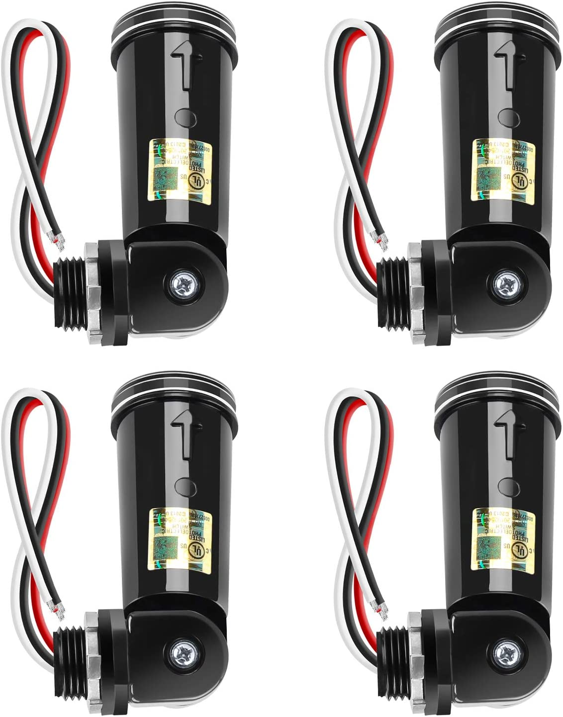 4 Pack Photocell Sensor Switch Outdoor Listed UL 55% OFF Conduit Lighti security