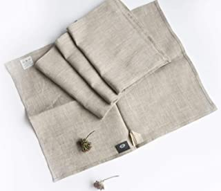 Pure 100% Linen Flax Washcloths - 4-Pack 13.5