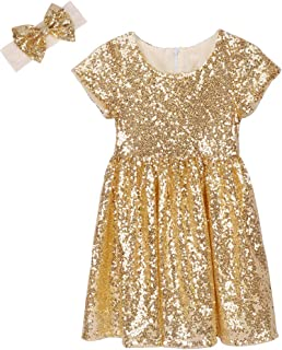 Best toddler gold christmas dress Reviews