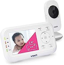 "VTech Video Baby Monitor with 1000ft Long Range, Auto Night Vision, 2.8"" Screen, 2-Way Audio Talk, Temperature Sensor, Pow..."