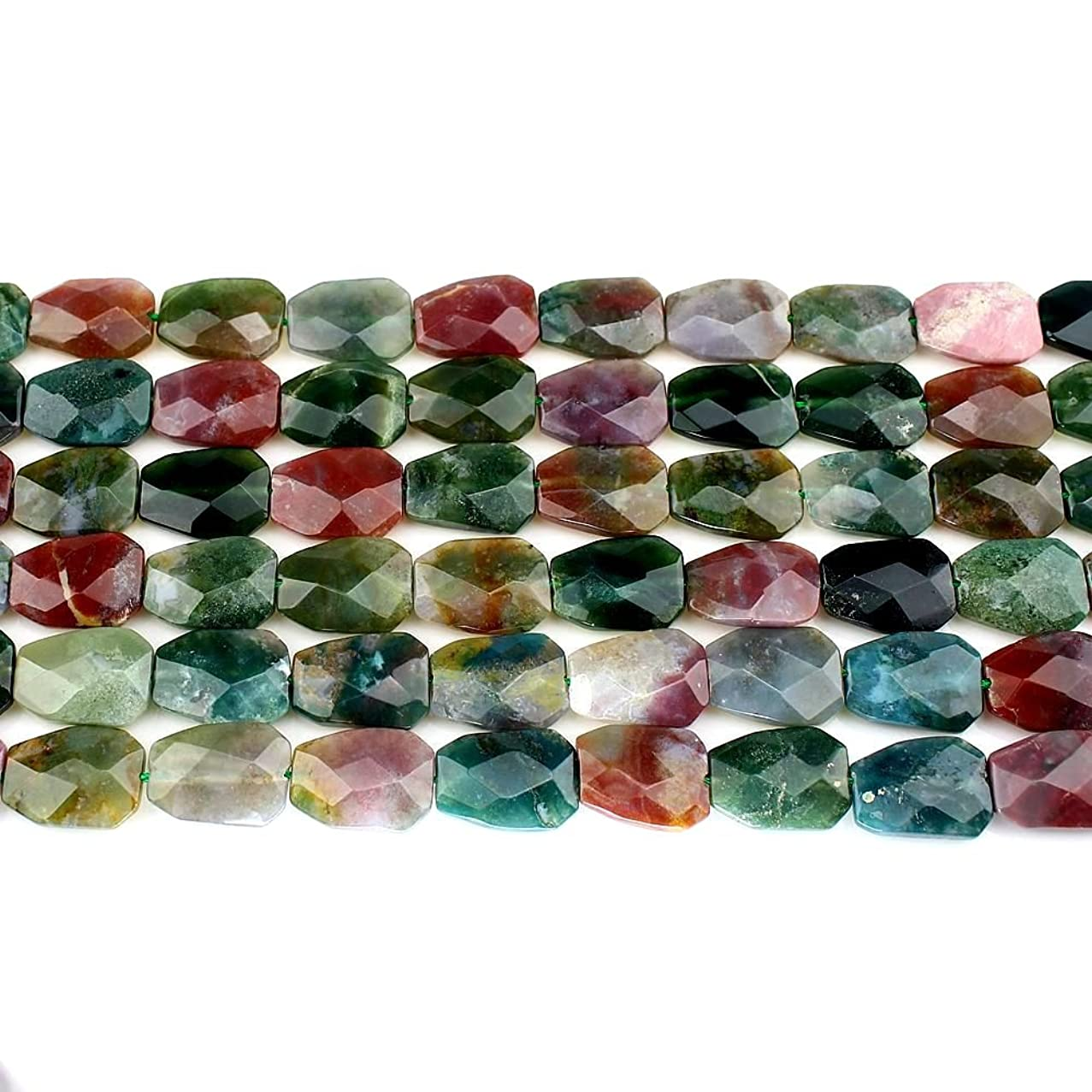 25x18x7mm Indian Agate loose Beads 16