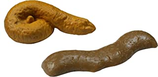 2 Pack of Novelty Fake Pop Toys, Floats on Water, Perfect Gag Gift, Prank Gift, Two Realistic Poop Designs, Fake turd for Real Laughs