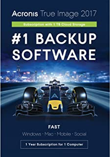 Acronis True Image Subscription 1 Computer + 1TB Cloud Storage - 1 Year