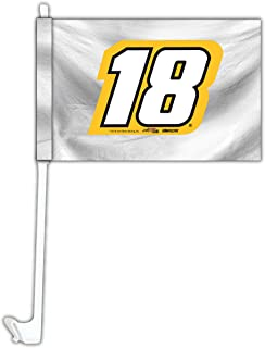 Kyle busch #18 Nascar Car Flag set of 2