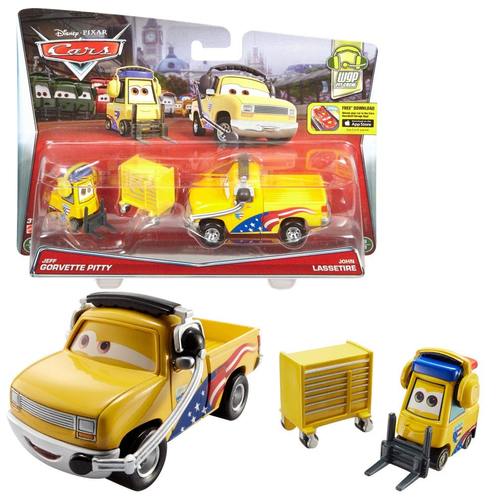 Mattel Selección Modelos Doble Pack | Disney Cars | Cast 1:55 Vehículos, Cars Doppelpacks:John Lassetire & Jeff Corvette Pitty: Amazon.es: Juguetes y juegos