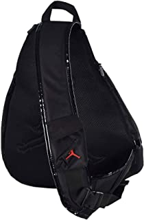 Jordan Jumpman Sling Black Patent/Red Zipper Book-Bag BackPack Men/Women