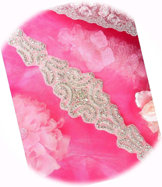 Bridal Sash Applique Beaded Rhinestone price an Perfect 14.5