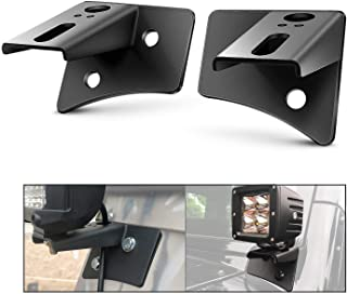 Nilight - 90026B 2PCS Jeep JK A-Pillar Windshield Hinge Mounting Brackets for Offroad LED Fog Light Halogen Work Light for...