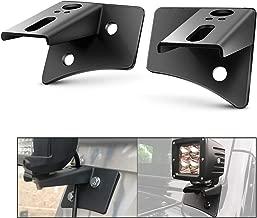 Nilight 90026B 2PCS Pillar Windshield Hinge Mounting Brackets for Offroad LED Fog Halogen Work Light for 2007-2017 Jeep Wrangler JK,2 Years Warranty
