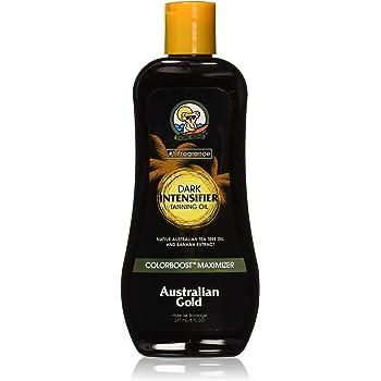 Australian Gold Dark Intensifier Tanning Oil, 8 Ounce | Colorboost Maximizer