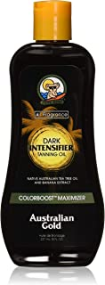 Australian Gold Dark Intensifier Tanning Oil, 8 Ounce | Colorboost Maximizer