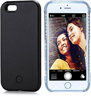 Vanjunn iPhone 5s Selfie Light Case LED Illuminated Light Up Phone Case for iPhone 5Se Rose Gold Black