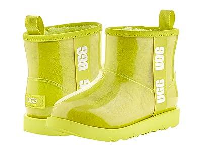 UGG Kids Classic Clear Mini II (Toddler/Little Kid/Big Kid) (Sulfur) Girls Shoes