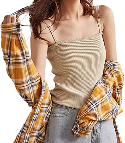 2021 SHAREWIN Basic online sale Camisole for Women,Slim-Fit Tank Top,Stretch Casual Undershirt Solid Color Sexy 2021 Camisoles,Sleeveless Vest online