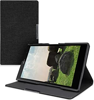 kwmobile Case Compatible with Sony Xperia Tablet Z3 Compact - Slim Book Style Tablet Cover with Stand Feature - Dark Grey