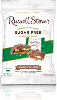 Russell Stover Sugar-Free Almond Delight Candy, 3 Ounce Peg Bag (Pack of 12)