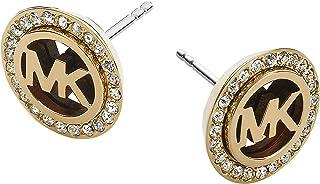 Gold-Tone Clear Stud Earrings