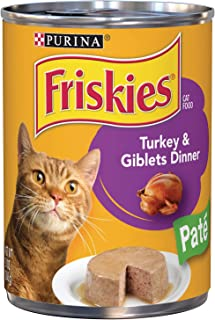 Purina Friskies Pate Turkey & Giblets Wet Cat Food Can 368g (6 Cans)