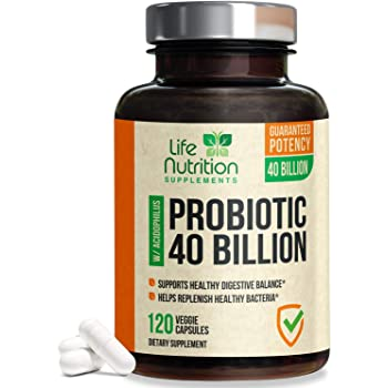 Probiotic 40 Billion CFU - Shelf Stable Natural Probiotic Supplement with MAKTrek® Bi-Pass Technology. Patented Delay Release Formula with Lactobacillus and Acidophilus for Women & Men - 120 Capsules