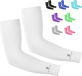 Cooling Arm Sleeves for Men & Women (1 pair), UV Protective UPF 50 Long Sun Sleeves, Tattoo Cover up Sleeves to Cover Arms, Cooling Clothing, Cycling Golf Running Driving, Moisture Wicking & Stretch