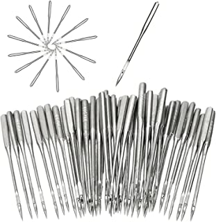 50 Pieces Sewing Machine Needles Embroidery Universal Regular Point Sewing Machine Needle for Singer, Brother, Janome, Var...