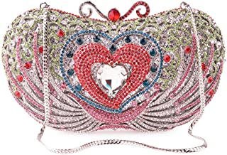 Runhuayou Swan-Shaped Pink Rhinestone-Studded Eve Bag Luxury Tog Wedding Holiday Banquet Bride Clutches Bags Chain Shoulder Bag for Women Suitable for Females of All Ages on Any Occasions
