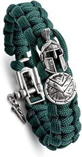 Kayder Hand Woven Paracord Bracelet Multi Style with Retro Theme Accessories & Adjustable D Shackle