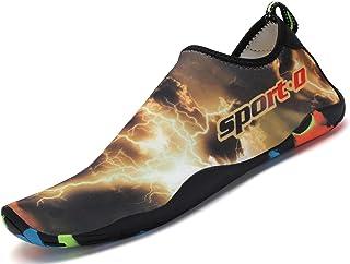 SAGUARO Unisexe Chaussures Aquatiques Respirant Séchage Rapide Chaussettes de Plage Eté Surf Nager Antidérapant Homme Femme