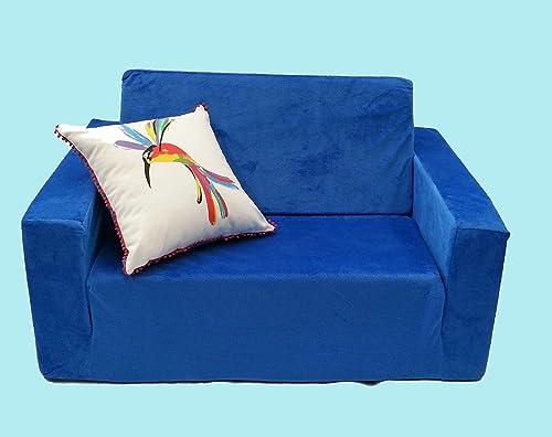 Kids Children's Flip Out Foam Sofa Recliner Couch (Mauve)