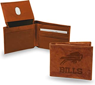 Rico Industries Adult-Unisex's NFL Brown Leather Billfold Wallet