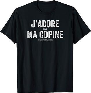 Homme J'adore Ma Copine Drôle Console Jeux Vidéo Homme Cadeau T-Shirt