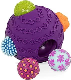 B. Toys – Ballyhoo Baby Ball – 1 Big Textured Ball with 5 Small Sensory Balls – Developmental Toys for Babies 6 Months +