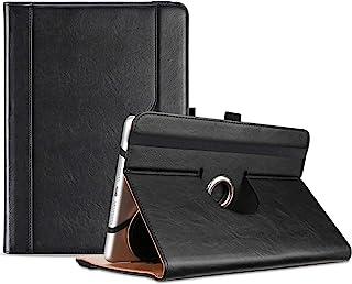 "ProCase 7-8インチ タブレット 汎用ケース スタンド フォリオケース 7"" 8"" タッチスクリーン タブレットに対応 360度回転 角度調整可 書類やカード用ポケット ペンホルダー付き - ブラック"