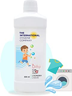 The International Hygiene Company Baby Laundry Liquid Detergent Ideal for High-Efficiency & Standard washers | With Bio - ...