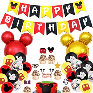Mickey Mouse Party Supplies,Mickey Mouse Birthday Party Supplies,Mickey Mouse Birthday Decorations Kit,for Mickey Theme Pa...