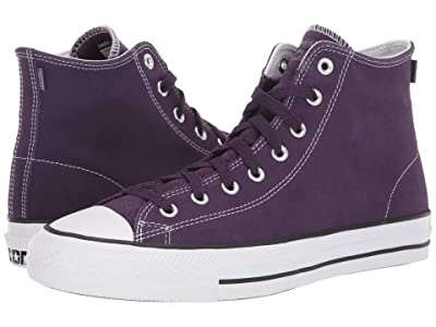 Converse Skate Chuck Taylor All Star Pro Rubber Backed Suede Hi (Grand Purple/Vivid Sulfur/White) Shoes