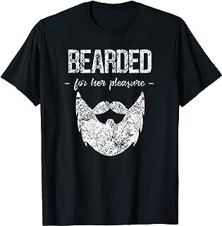 Vintage Bearded For Her Pleasure Funny Beard Humor T-Shirt